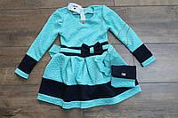 Трикотажное платье с сумкой 104-110 рост