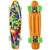 Пенни борд пластиковый для детей и подростков PENNY Скейтборд доска 22 дюйма PU Персиковый (SK-881-5)