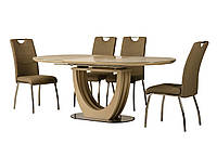 Раздвижной стол ТМL-760 матовый капучино 150/200 от Vetro Mebel