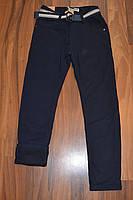 УТЕПЛЁННЫЕ,СИНИЕ, Котоновые брюки на флисе для мальчиков подростков.ШКОЛА! размеры 170 см.