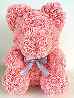 Мишка из 3D роз 25 см в красивой подарочной упаковке
