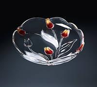 Блюдо Nadine Satin Red Gold 310 мм WALTHER GLASS