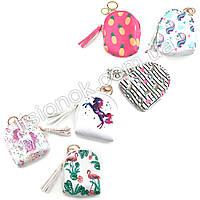 Детский кошелек-брелок в виде мини-рюкзака - стильный и удобный аксессуар, фото 1