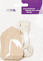 Подарочные бирки крафт со шнурками Heyda, 30 шт
