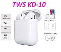 """Беспроводные наушники TWS AirPro """"KD-10"""" JKR   Touch sensor, PopUp"""