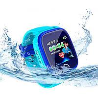 Детские водонепроницаемые смарт-часы с GPS DF25G Aqua (WIFI Edition, Q100)