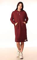 Платье-Худи Quest Wear бордо, фото 1