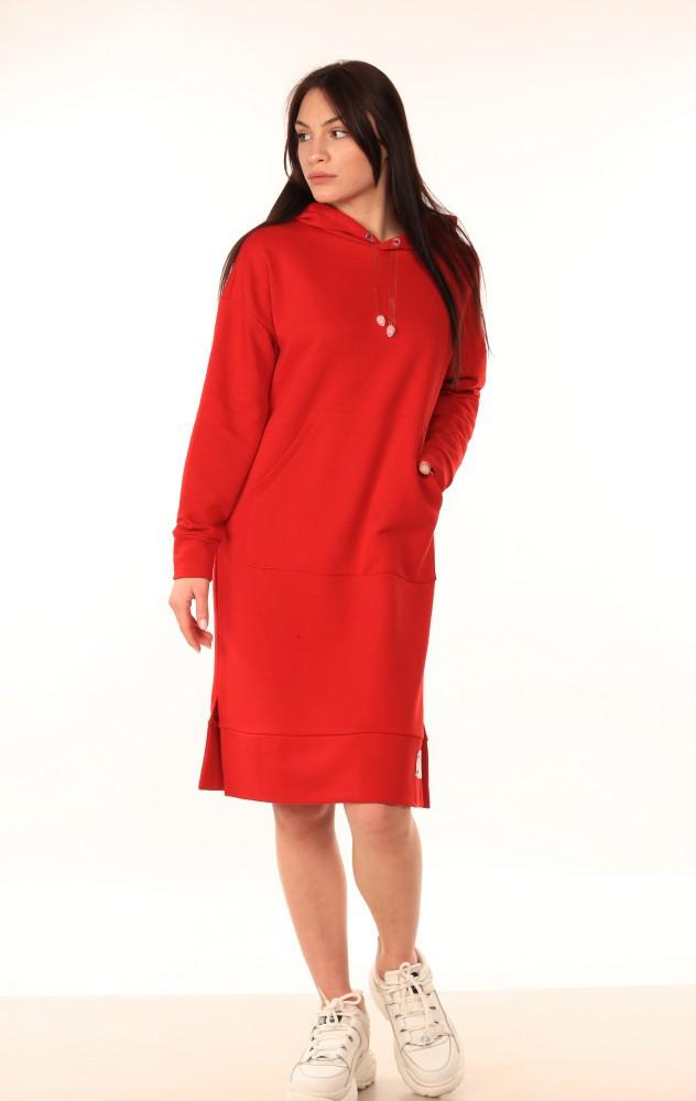 Платье-Худи Quest Wear красное