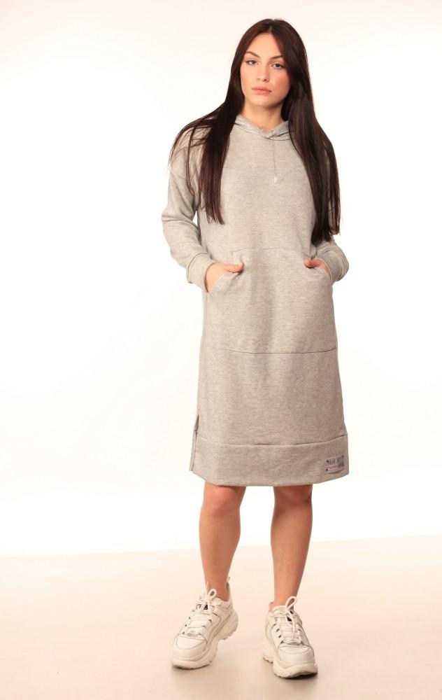 Платье-Худи Quest Wear серое
