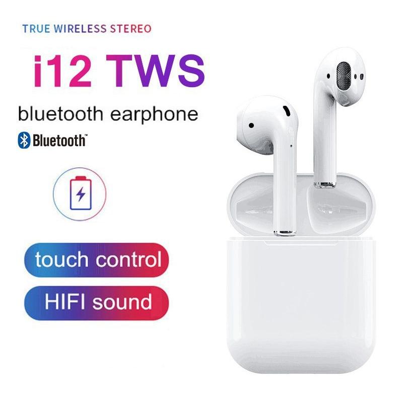 """Беспроводные наушники TWS AirPro """"i12 5.0"""" JKR   Touch sensor + PopUp"""