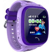 Детские водонепроницаемые смарт-часы с GPS DF25G Aqua (WIFI Edition, Q100) Фиолетовый