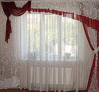 Ламбрикен Ассиметрия Бордо  3м Органза, фото 1
