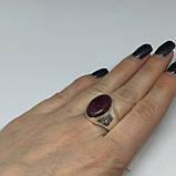 Рубин овальное кольцо с камнем рубин размер 19 кольцо с рубином Индия!, фото 3