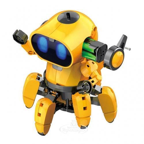 Интерактивный робот ТОББИ на сенсорном управленииHG-715 (детская игрушка-конструктор на 114 деталей)+ПОДАРОК!