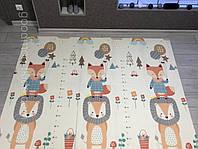 Складной коврик книжка для детей Лес Теплый коврик для игр Термоковрик для детей