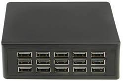 Зарядное устройство Charger Adapter 6876, 15 USB-портов