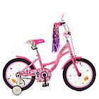 Велосипед детский двухколесный PROFI Y1821-1 Bloom 18 дюймов розовый, фото 2
