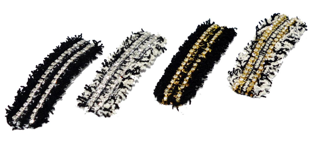 Шпилька затискачі тік-так для волосся зі стразами (4 шт)