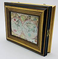 Ключница карта моря 23х28х6.5 см