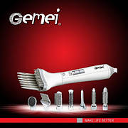 Воздушный Стайлер с насадками для укладки волос Gemei GM 4832, стайлер 8 в 1, 2 скорости, 1000 Вт
