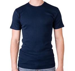 Синяя темная футболка мужская спортивная летняя без рисунка трикотажная хб Украина
