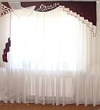 Жесткий ламбрекен Вензель Бордо 2,50- 3м, фото 2