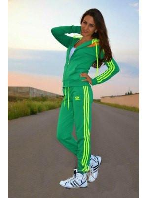 033ef41de0b Спортивный костюм женский Adidas 2 салатовый