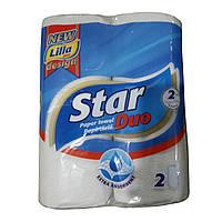 Бумажные полотенца Star Duo 2-х слойные, 2 шт