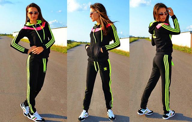 fb273dd0b1a Спортивный костюм женский Adidas 2 черный