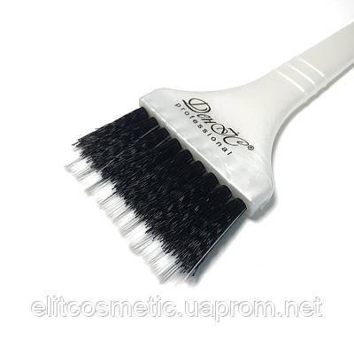 Кисть для окрашивания волос DenIS professional белая с двойной щетиной