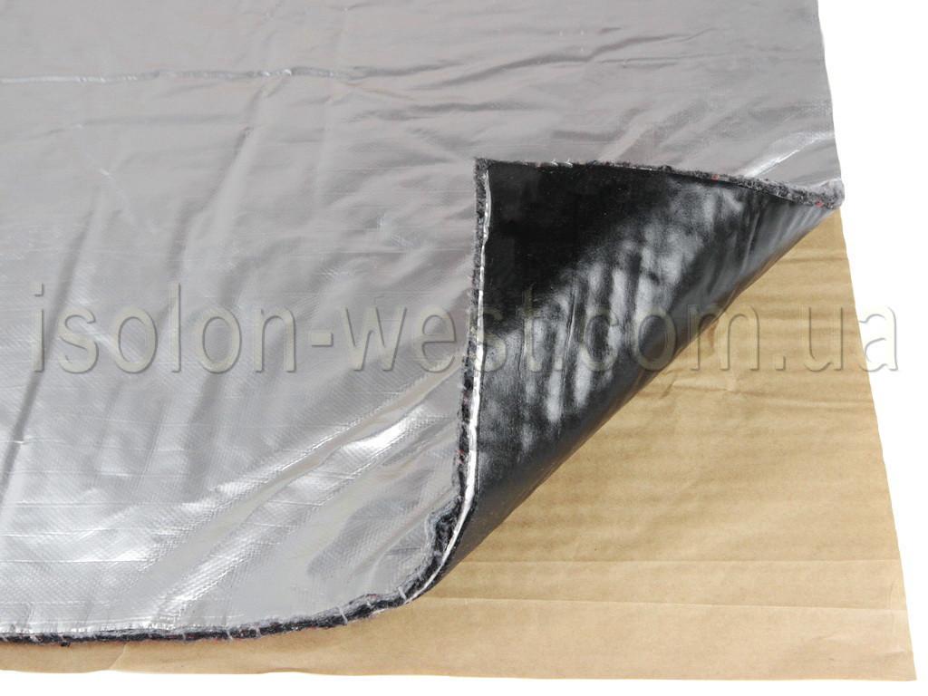 Виброшумка войлочная фольгированная 3в1 6ФСВВ/4.0 (50х70)см, толщина 10мм, влагостойкая, многослойная