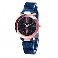 Женские часы Trend-mix Starry Sky Watch на магнитной застёжке Синие с золотистым (tdx0000445)