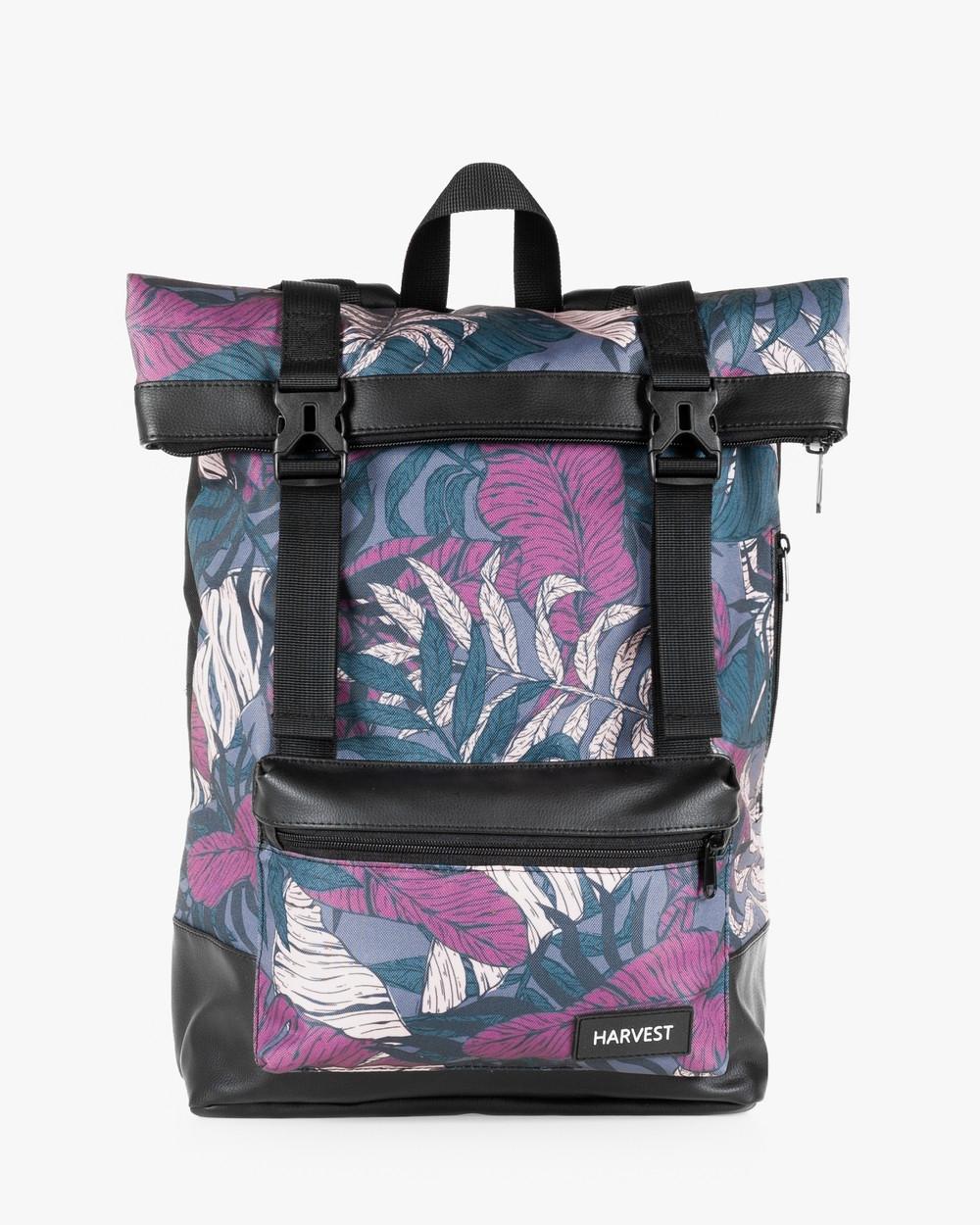 Стильний рюкзак HARVEST Roll тропік бордовий 40x29x11 см. 18-21 л. роллтоп для ноутбука поліестр екошкіра
