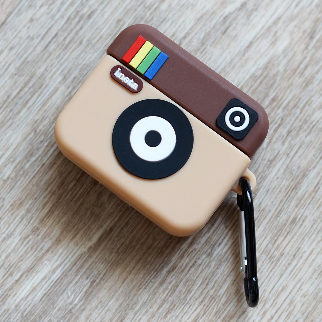 Силиконовый чехол для Apple AirPods Pro (чехол+карабин) (Instagram)