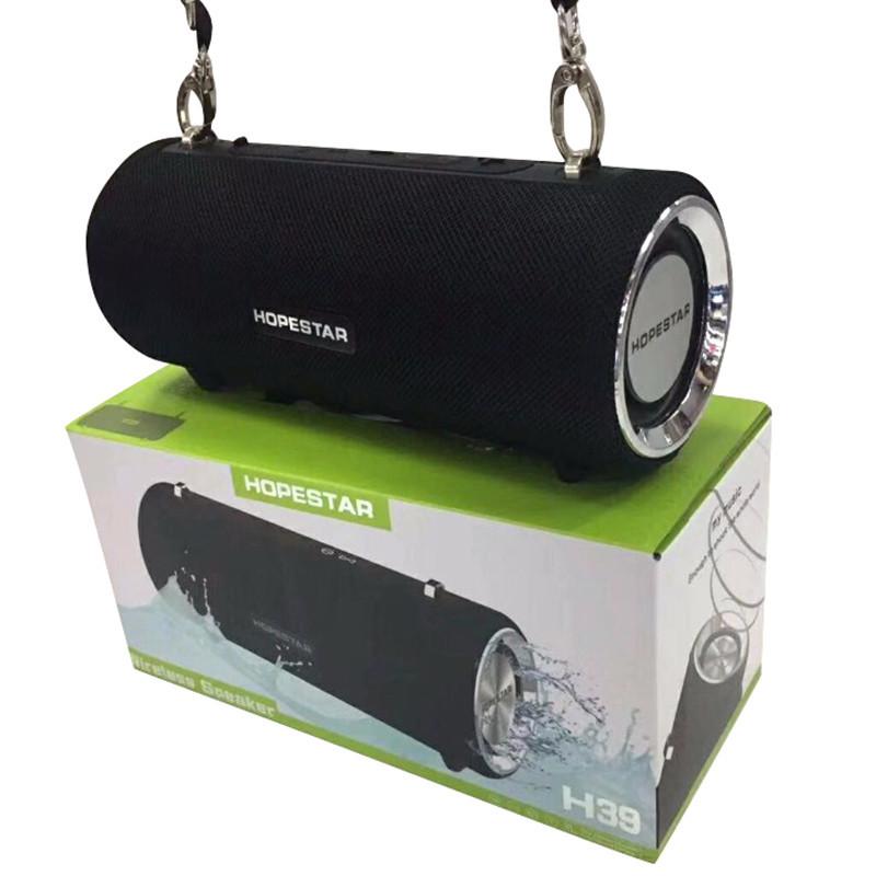 Портативная Bluetooth колонка HOPESTAR H39 ЧЁРНАЯ Original (Black). Блютуз колонка хопстар