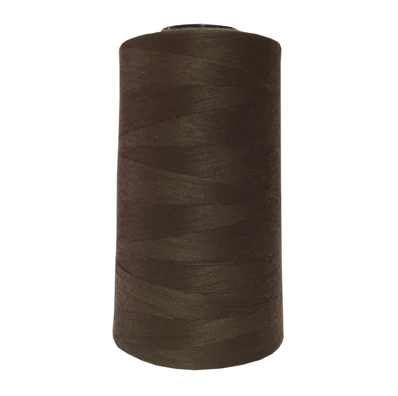 Нитки швейные 50/2 цв.S-569 коричневый темный (боб 5000 ярдов) NITEX