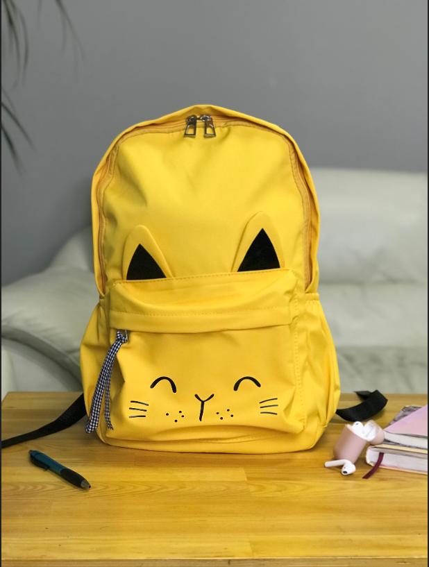 Рюкзак портфель женский желтый (есть другие цвета)