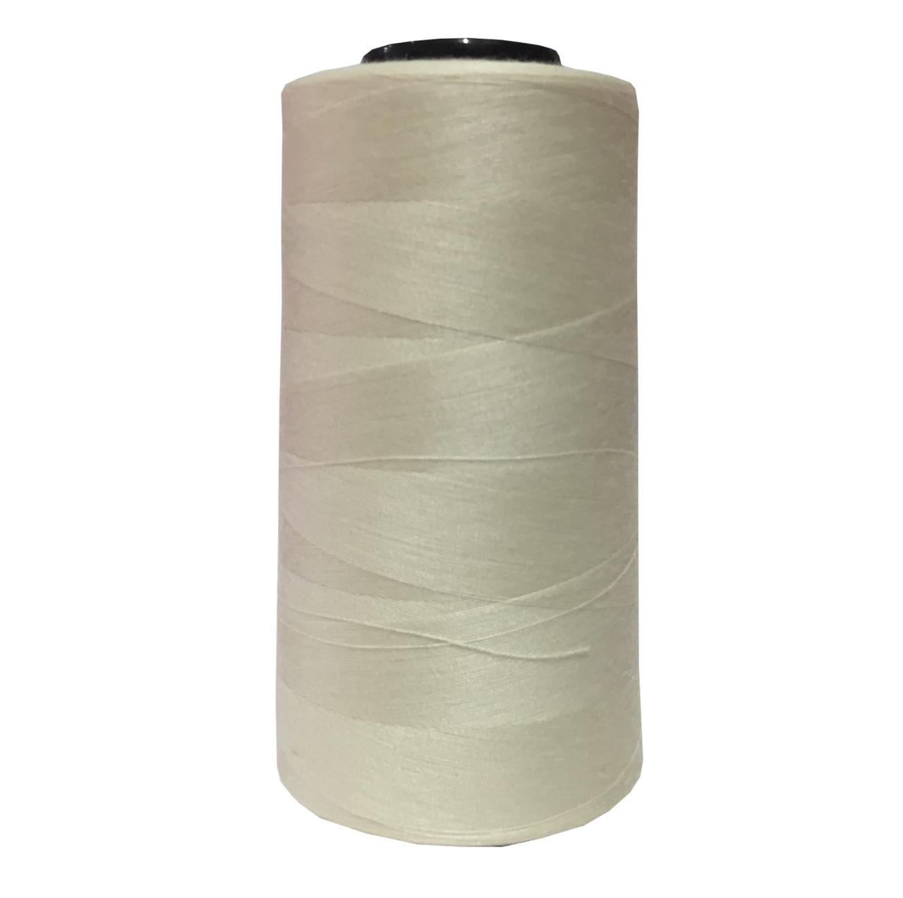 Нитки швейные 50/2 цв.S-801 молочный (боб 4000 ярдов) NITEX
