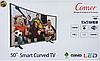 "Телевизор Comer 50"" Smart TV изогнутый + T2 встроенный тюнер E50DM1200. Смарт телевизор Комер Андроид, фото 6"