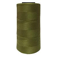 Нитки швейные 50/2 цв.S-011 зеленый грязный (боб 4000 ярдов) NITEX