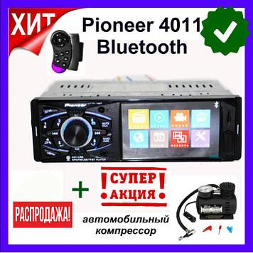 "Автомагнитола Pioneer 4011BT (Silver). Bluetooth 4,1"" LCD TFT USB + пульт на руль!"