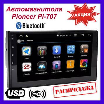 """Автомагнитола Pioneer Pi-707 Android 7, 7"""" IPS, GPS+TV, 16 Гб+ 1 Гб ОЗУ! Новинка 2019. 2din pioneer"""