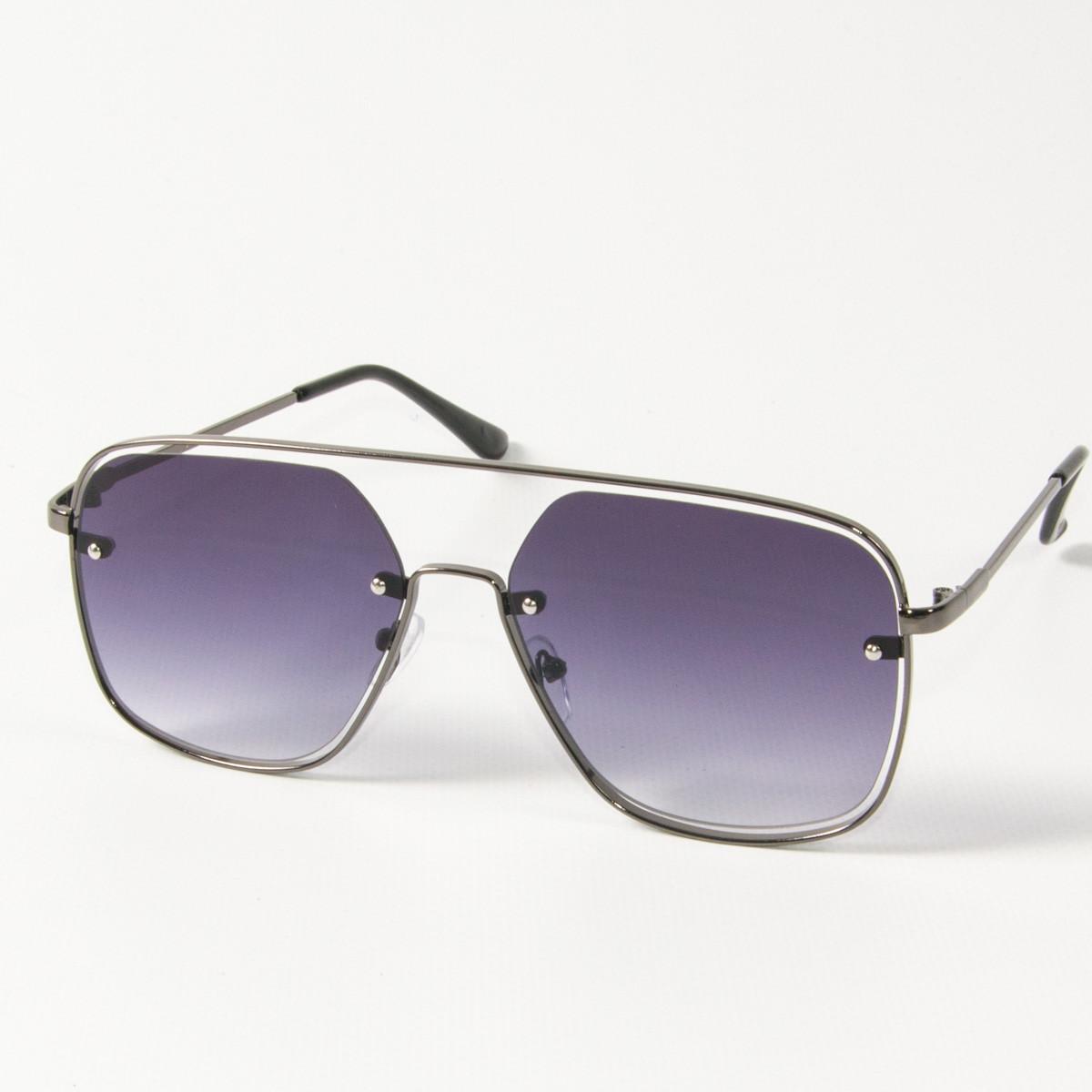Оптом солнцезащитные квадратные очки (арт. 6249/5) темно-синие