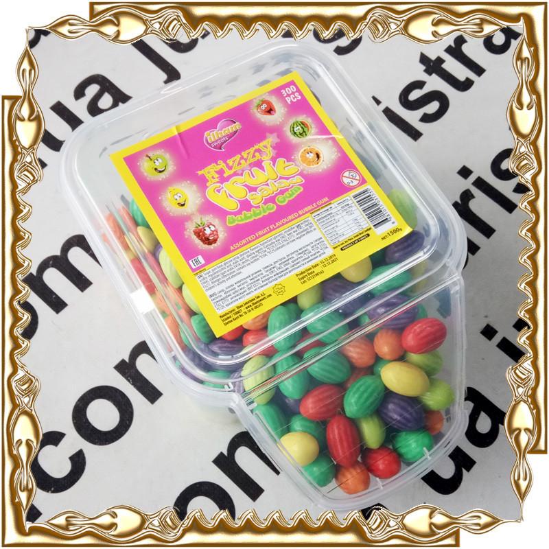 Жевательная резинка FIZZY Fruit Salad Bubble Gum 300 шт./уп.