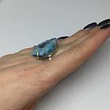 Агат кольцо с натуральным камнем агат жеода в серебре 18 размер Индия, фото 2