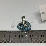 Агат кольцо с натуральным камнем агат жеода в серебре 18 размер Индия, фото 6