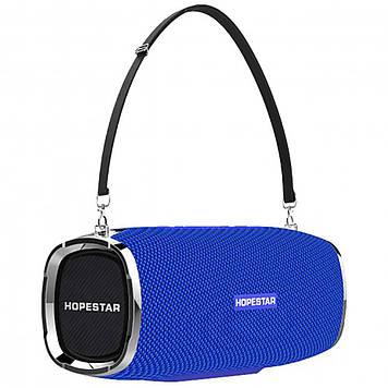 Портативная колонка HopeStar A6 ORIGINAL. blue (Синий) Оригинал Хоп стар. Блютуз колонка.