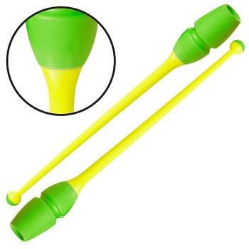 Булави гімнастичні Lingo 45см (C-0964) зелений/жовтий