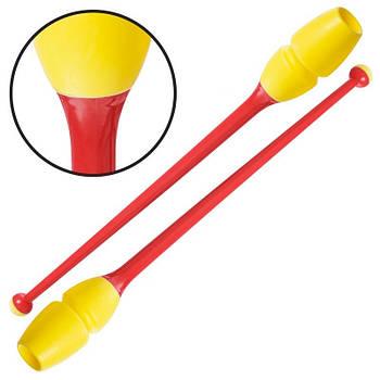 Булави гімнастичні Lingo 45см (C-0964) жовтий/червоний