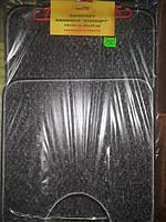 Набор ковриков в ванную и туалет с вырезом  Комфорт темно-серый, 50×70+50×50 мелкий ворс